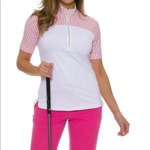 Fairway & Greene Aloha Pineapple Print Golf Polo M